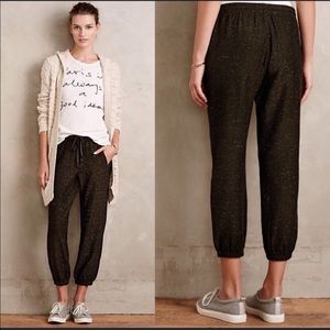 ✨Anthropologie ✨ Cloth & Stone 100% Linen Joggers